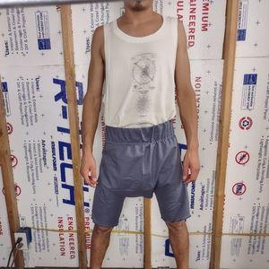 Dropcrotch short shorts